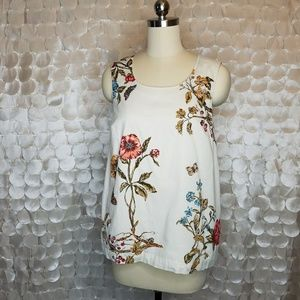 Meadow Rue Anthro floral pocket blouse Sz 6